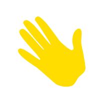 Winkende Hand Icon