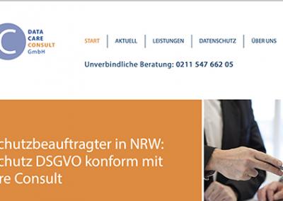 Webseitengestaltung für einen Datenschutzdienstleister