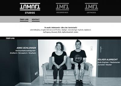 Webseiten für ein Ton- und Mixingstudio