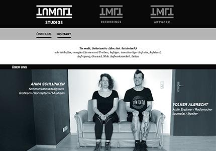 Webseitengestaltung für ein Ton- und Mixingstudio
