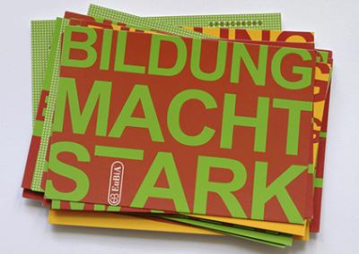 Imagepostkarten für einen Bildungsdienstleister