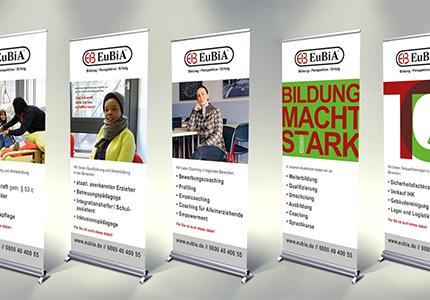 Messe-Roll-Ups für den Bildungsdienstleister EuBiA GmbH