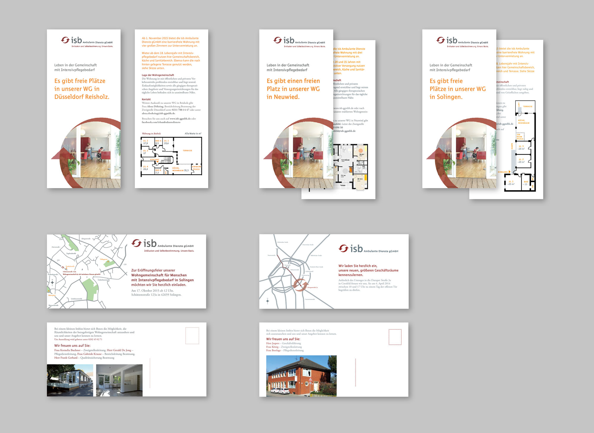 isb Intensivpflegedienst Corporate Design