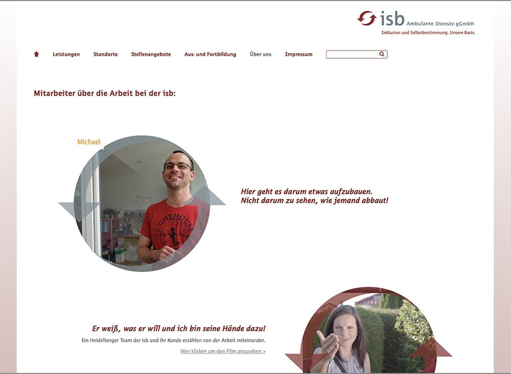 Webseitengestaltung isb Ambulante Dienste